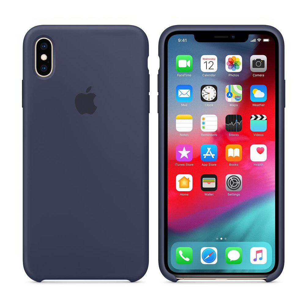 Чехол IPhone XS Max Silicon Case MRWG2ZM/A Midnight blue
